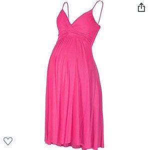 Maternity Sweetheart Knee-Length Dress, fuchsia